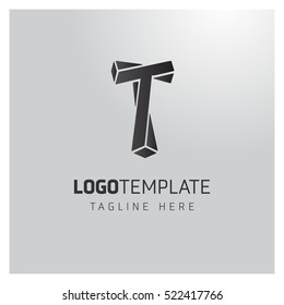 t letter logo formed by twisted lines. Twist Idea logo,Idea logo,Vector Logo Template, vector design template elements for your application or corporate identity