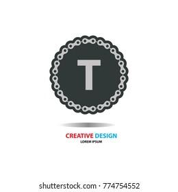 T Letter Logo Icon.Modern design.Vector illustration