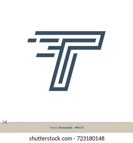 T Letter Logo Template Illustration Design. Vector EPS 10.