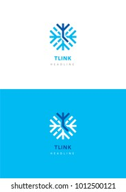 T link logo template.