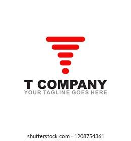 T logo design vector template