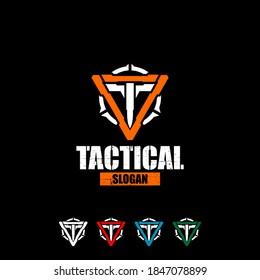 T logo tactical, tactical gear logo vector