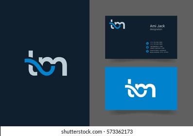 T & M Letter logo design vector element