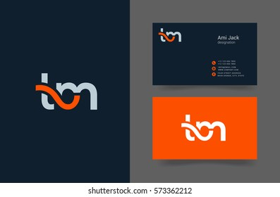 T & M Letter logo design vector element