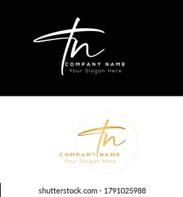 T N TN Initial letter handwriting and signature logo. Beauty vector initial logo .Fashion, boutique, floral and botanical