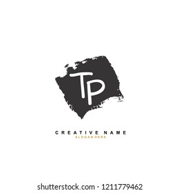 T P TP Initial abstract logo concept vector