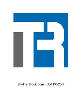 t and r logo. template of logotype.