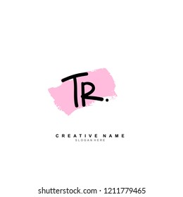 T R TR Initial abstract logo concept vector