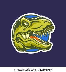 T Rex Head Mascot Gaming Team Logo Illustration