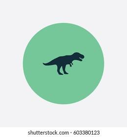 T Rex icon silhouette vector illustration