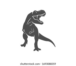 T rex logo design template. vector illustration
