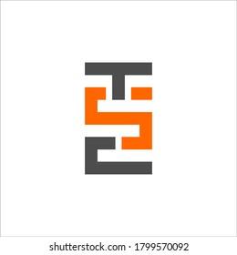 T S C logo design vector sign
