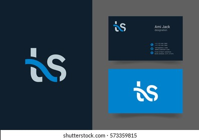 T & S Letter logo design vector element