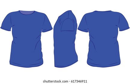 navy blue t shirt template front back side stock vector royalty