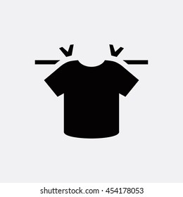 T shirt hanging on thread icon illustration isolated vector sign symbol