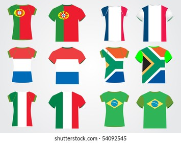 t shirt with national flag