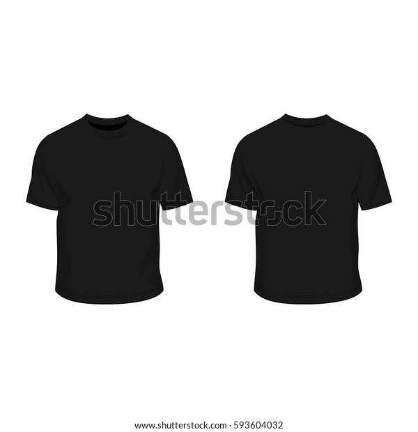 T Shirt Template Black Stock Vektorgrafik Lizenzfrei 593604032