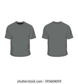 t shirt template heather grey