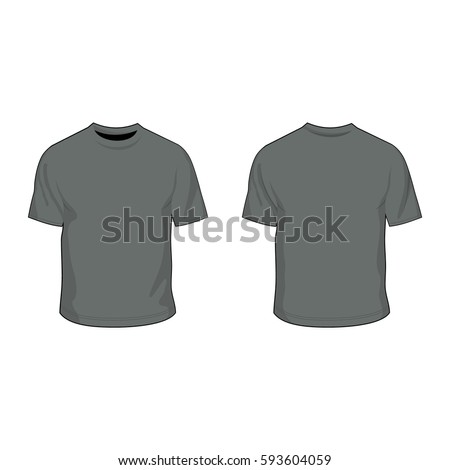 6c0c3f0c98 T Shirt Template Heather Grey Vector de stock (libre de regalías ...