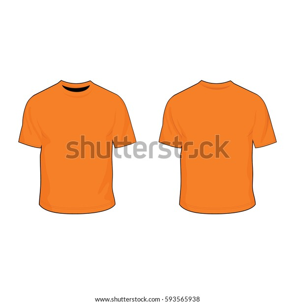 T Shirt Template Tangerine Stock Vector Royalty Free 593565938