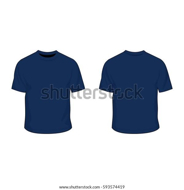 T Shirt Template Uniform Navy Stock Vector (Royalty Free