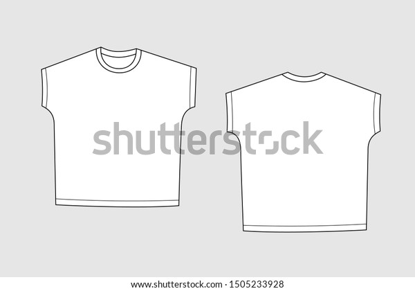 T Shirt Vector Template Isolated On Stock Vector Royalty Free 1505233928