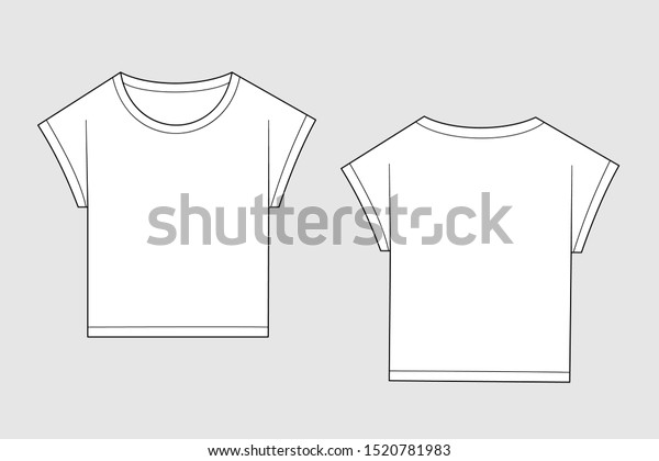 T Shirt Vector Template Isolated On Stock Vector Royalty Free 1520781983