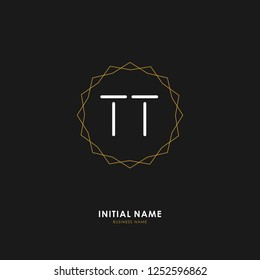 T T TT Initial logo letter with minimalist concept. Vector with scandinavian style logo.