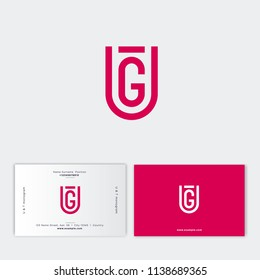 T and U monogram. T letter U letter as a gold shield. Digital logo. Flat style emblem. Identity, business card. Inverted version.