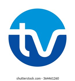 t and v logo vector.