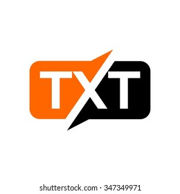 t, x, and t logo vector.