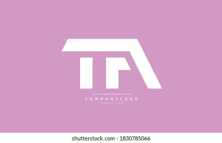 TA abstract initials monogram letter text alphabet logo design