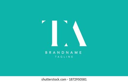 TA Alphabet initial Letter Monogram Icon Logo vector illustration