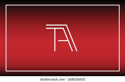TA, AT, T, A Letter Logo Design with Creative Modern Trendy Typography