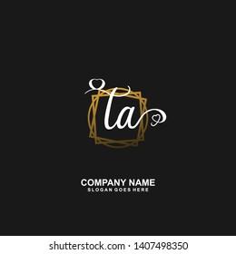 TA Initial handwriting logo vector