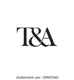 T&A Initial logo. Ampersand monogram logo