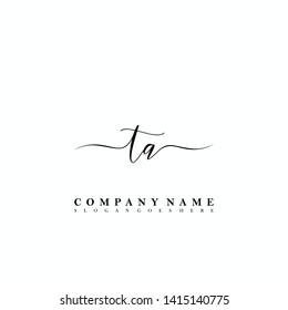 TA Initial luxury handwriting logo vector