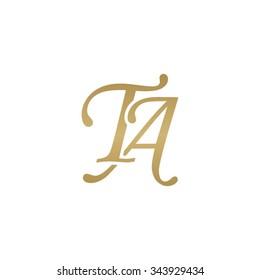 TA initial monogram logo