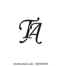 Ta Initial Monogram Logo Stock Vector Royalty Free 343929449