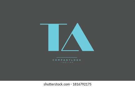 TA initials monogram letter text alphabet logo design