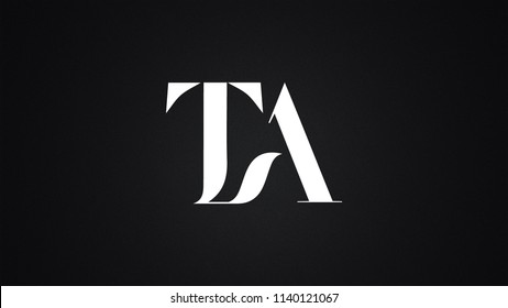 TA Letter Logo Design Template Vector