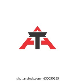 TA logo letter design