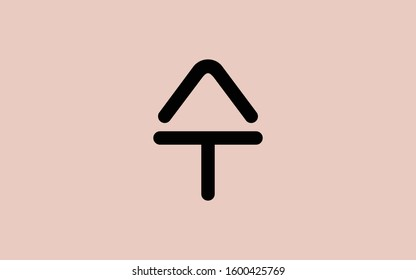 AT or TA and A or T Arrow shape Letter Initial Logo Design Template Vector Illustration