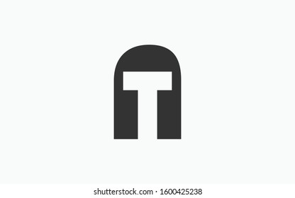 AT or TA and A or T Uppercase Letter Initial Logo Design Template Vector Illustration