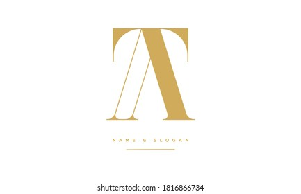 TA,AT,T,A  Abstract Letters Logo Monogram