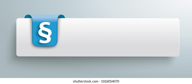 Tab with blue marker and white paragraph on the gray background. Eps 10 vector file.