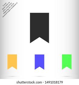 tab vector icon , Lorem ipsum flat design
