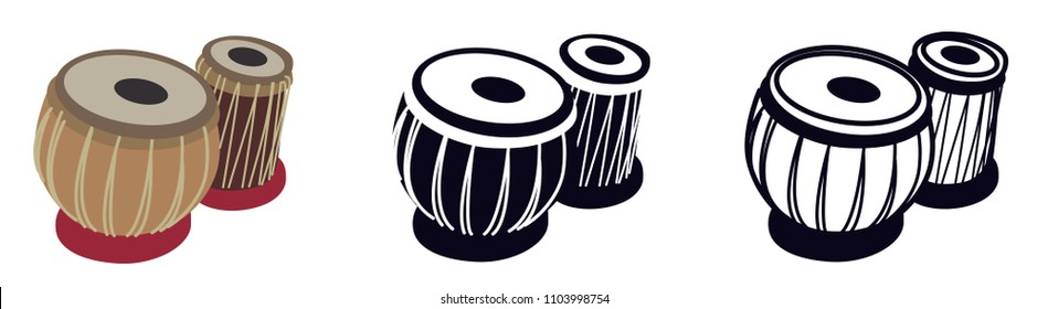 Tabla, Arabic, ORiental Musical Instrument - Vector Illustration Isolated Icon