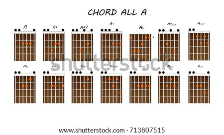 Table Chord Guitar Chords A Stock Vector (Royalty Free) 713807515 ...