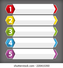 Table of contents use for template sequence, ranking, list, chart